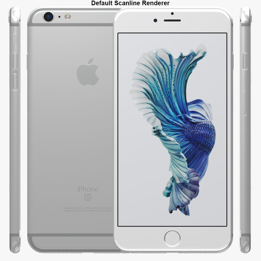 iPhone 6S Plus Prateado royalty-free 3d model - Preview no. 29