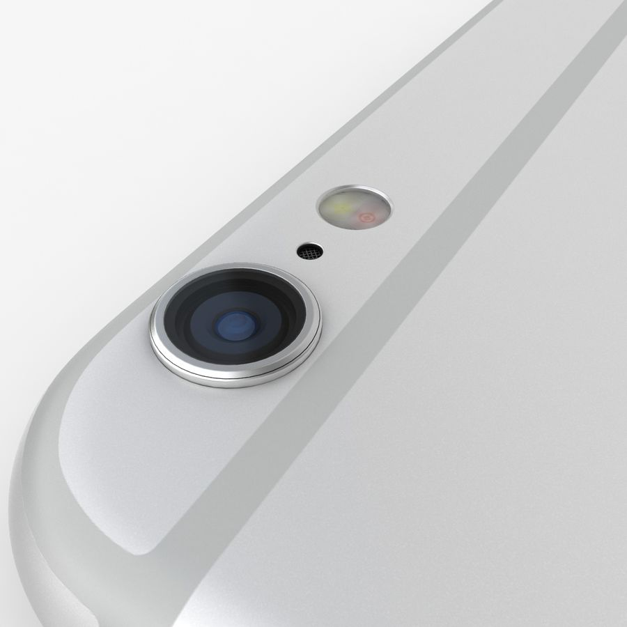 iPhone 6S Plus Prateado royalty-free 3d model - Preview no. 13