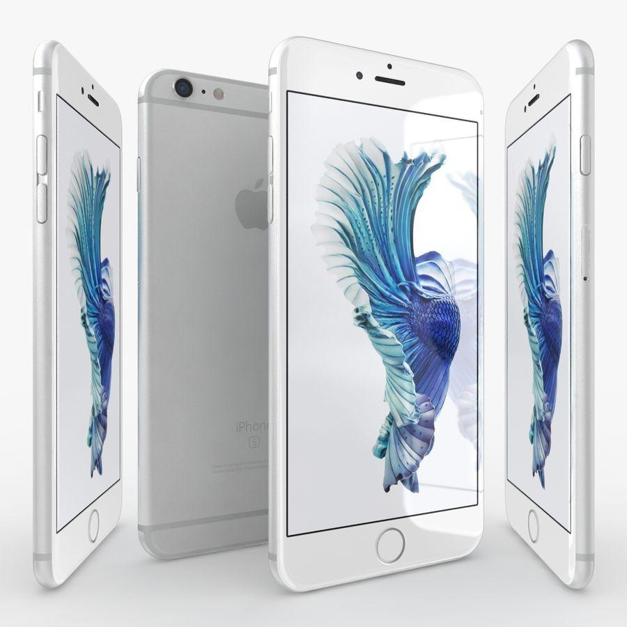 iPhone 6S Plus Prateado royalty-free 3d model - Preview no. 3