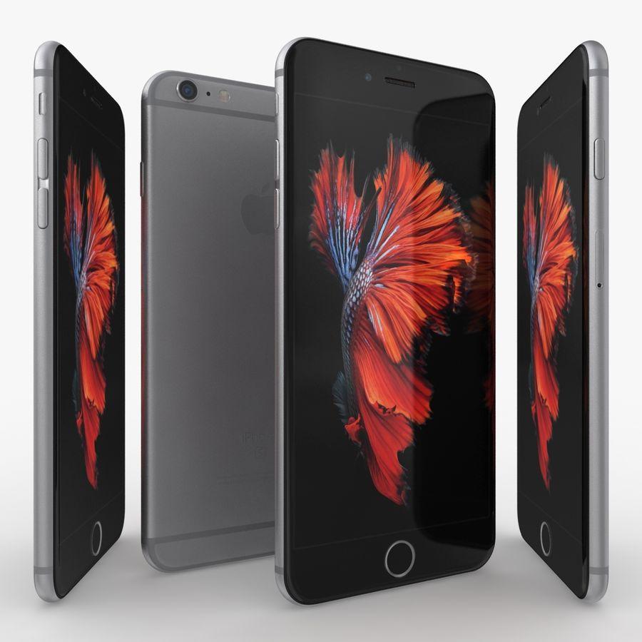 iPhone 6S Plus Espaço Cinzento royalty-free 3d model - Preview no. 3