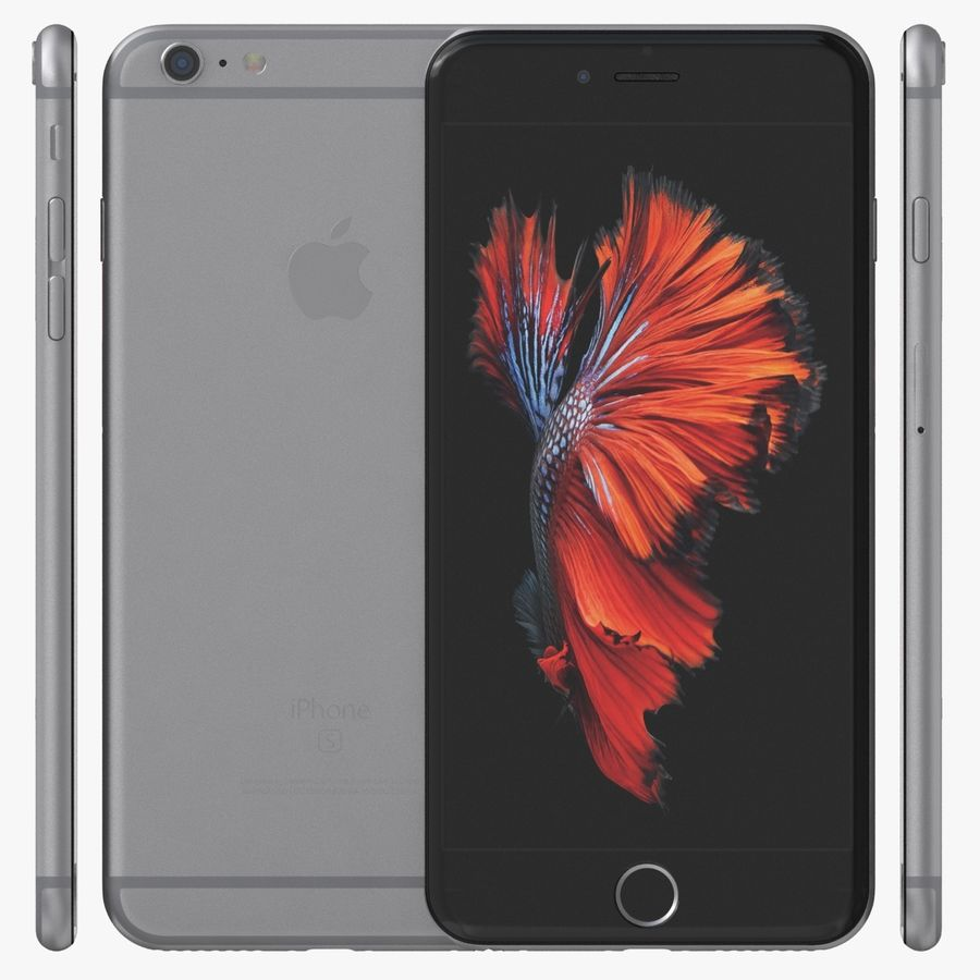 iPhone 6S Plus Espaço Cinzento royalty-free 3d model - Preview no. 2