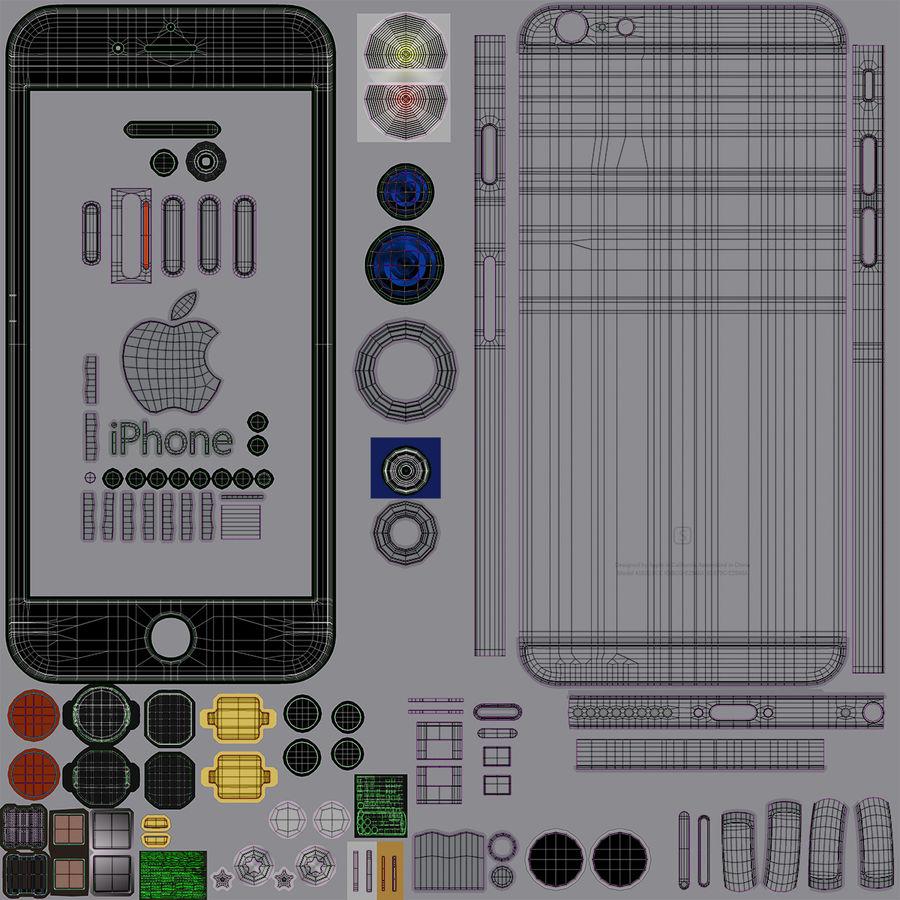 iPhone 6S Plus Espaço Cinzento royalty-free 3d model - Preview no. 30