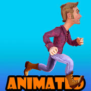 cool boy animated 3d model