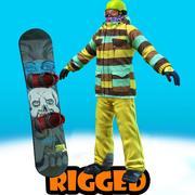 snowboarder Jack rigged 3d model