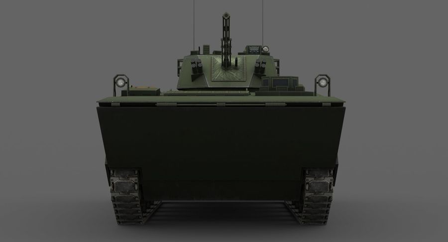 Танк-амфибия ЗБД-05 royalty-free 3d model - Preview no. 13