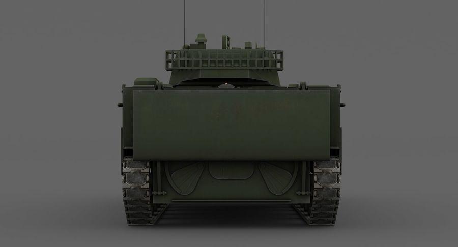 Танк-амфибия ЗБД-05 royalty-free 3d model - Preview no. 15