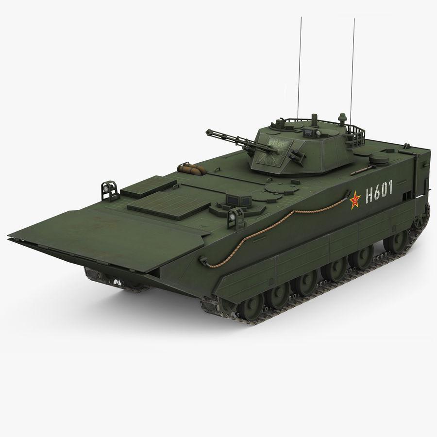 Танк-амфибия ЗБД-05 royalty-free 3d model - Preview no. 1