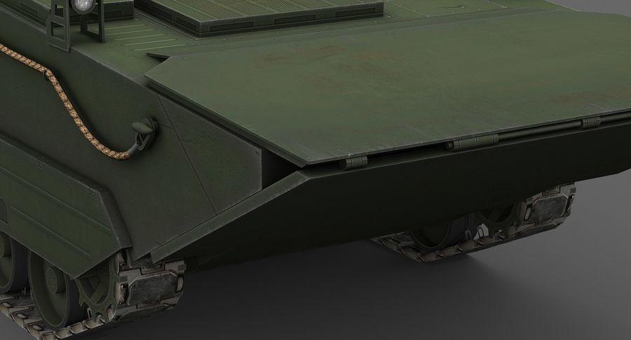 Танк-амфибия ЗБД-05 royalty-free 3d model - Preview no. 10