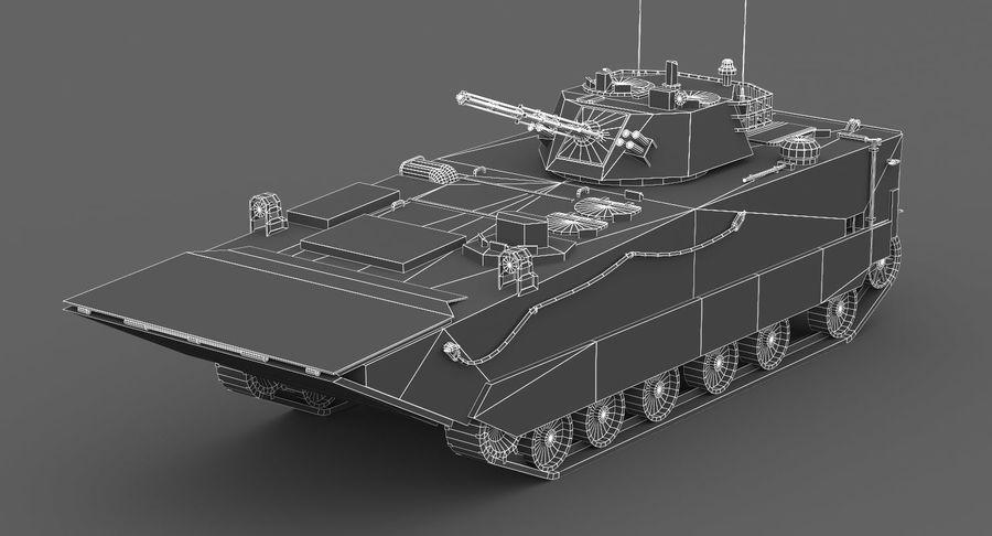 Танк-амфибия ЗБД-05 royalty-free 3d model - Preview no. 4