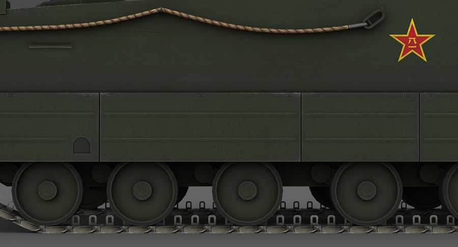 Танк-амфибия ЗБД-05 royalty-free 3d model - Preview no. 12