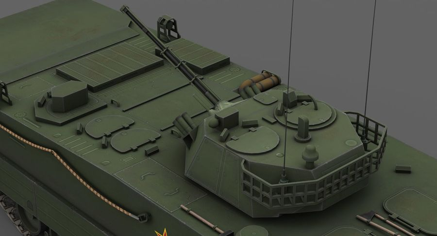 Танк-амфибия ЗБД-05 royalty-free 3d model - Preview no. 8