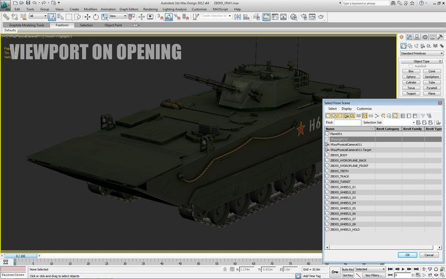 Танк-амфибия ЗБД-05 royalty-free 3d model - Preview no. 17