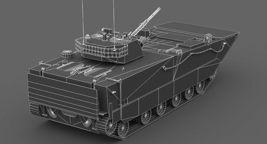 Танк-амфибия ЗБД-05 royalty-free 3d model - Preview no. 6