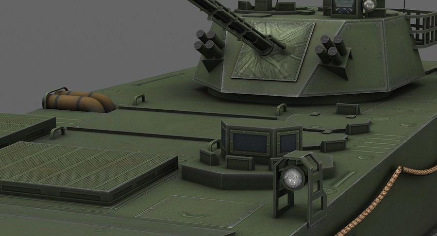 Танк-амфибия ЗБД-05 royalty-free 3d model - Preview no. 11