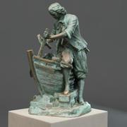 Tsar carpenter sculpture 3d model