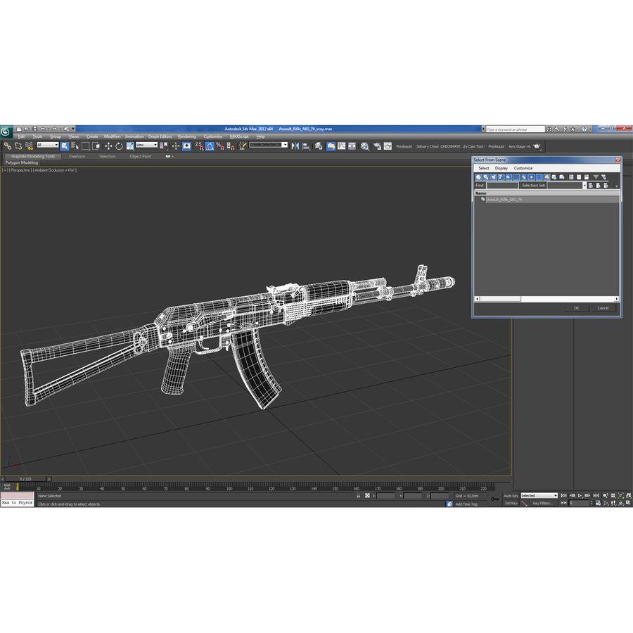 Assault Rifle AKS 74 3D Model royalty-free 3d model - Preview no. 31