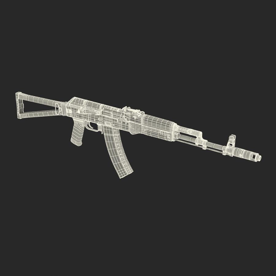 Assault Rifle AKS 74 3D Model royalty-free 3d model - Preview no. 32