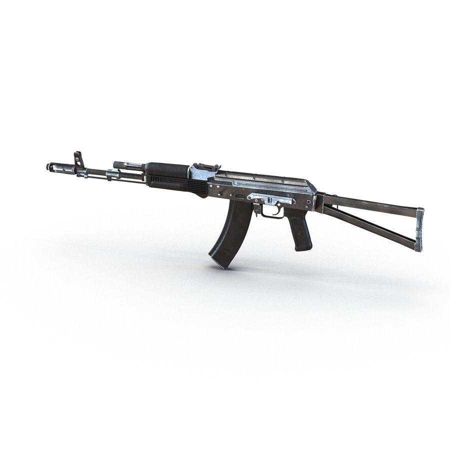 Assault Rifle AKS 74 3D Model royalty-free 3d model - Preview no. 3