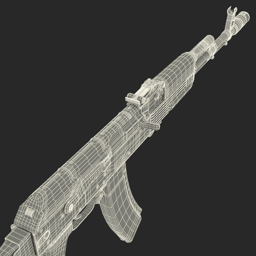 Assault Rifle AKS 74 3D Model royalty-free 3d model - Preview no. 35