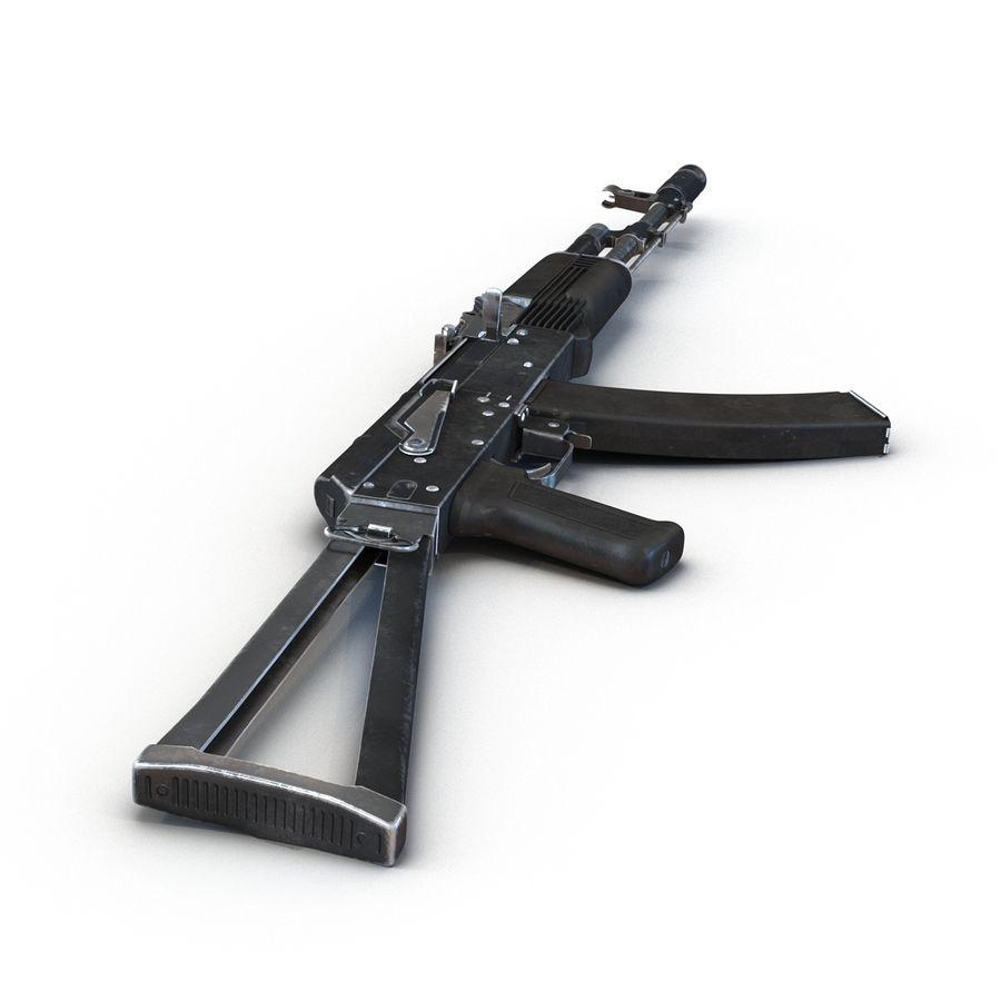 Assault Rifle AKS 74 3D Model royalty-free 3d model - Preview no. 9