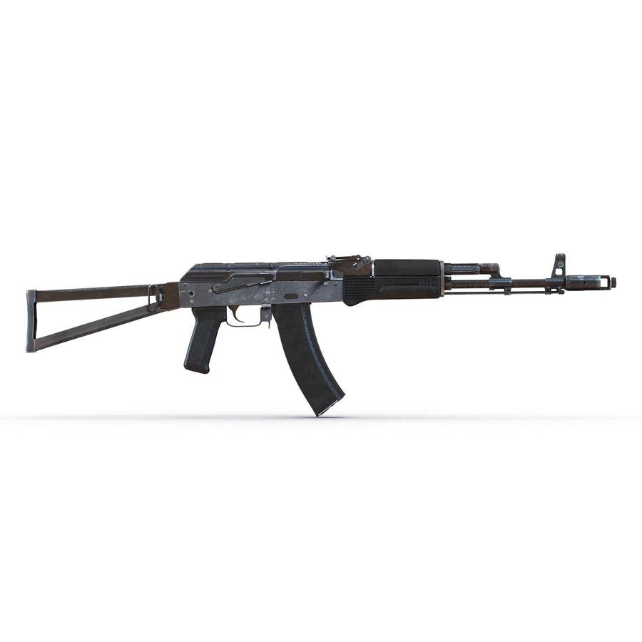 Assault Rifle AKS 74 3D Model royalty-free 3d model - Preview no. 6