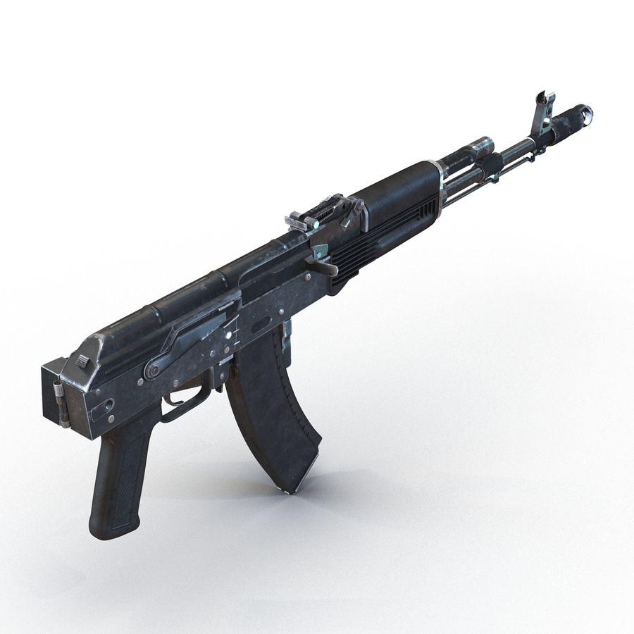 Assault Rifle AKS 74 3D Model royalty-free 3d model - Preview no. 8