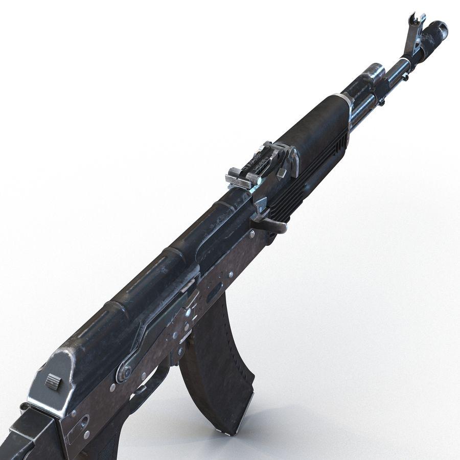 Assault Rifle AKS 74 3D Model royalty-free 3d model - Preview no. 18
