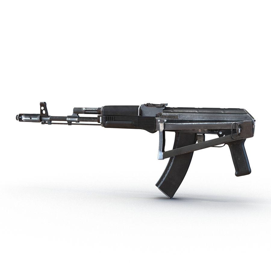 Assault Rifle AKS 74 3D Model royalty-free 3d model - Preview no. 4