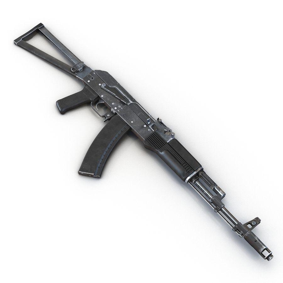 Assault Rifle AKS 74 3D Model royalty-free 3d model - Preview no. 10