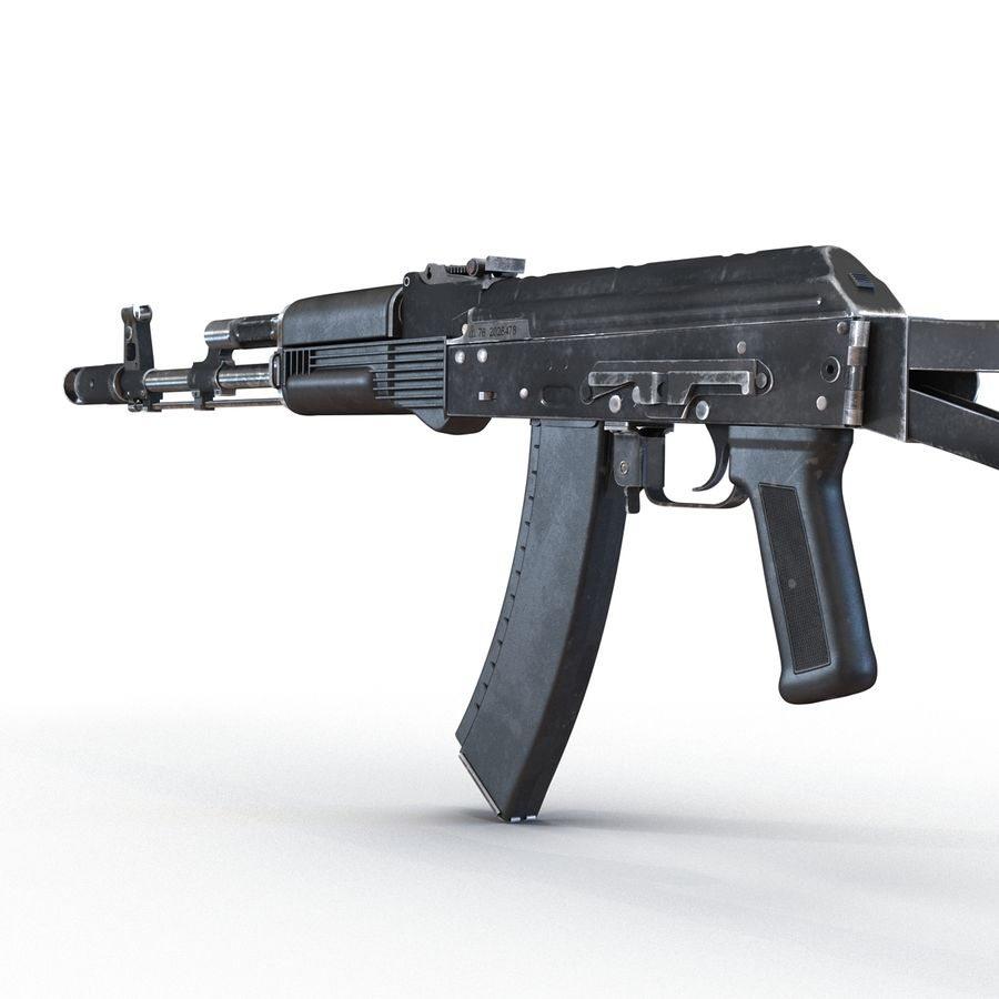 Assault Rifle AKS 74 3D Model royalty-free 3d model - Preview no. 12