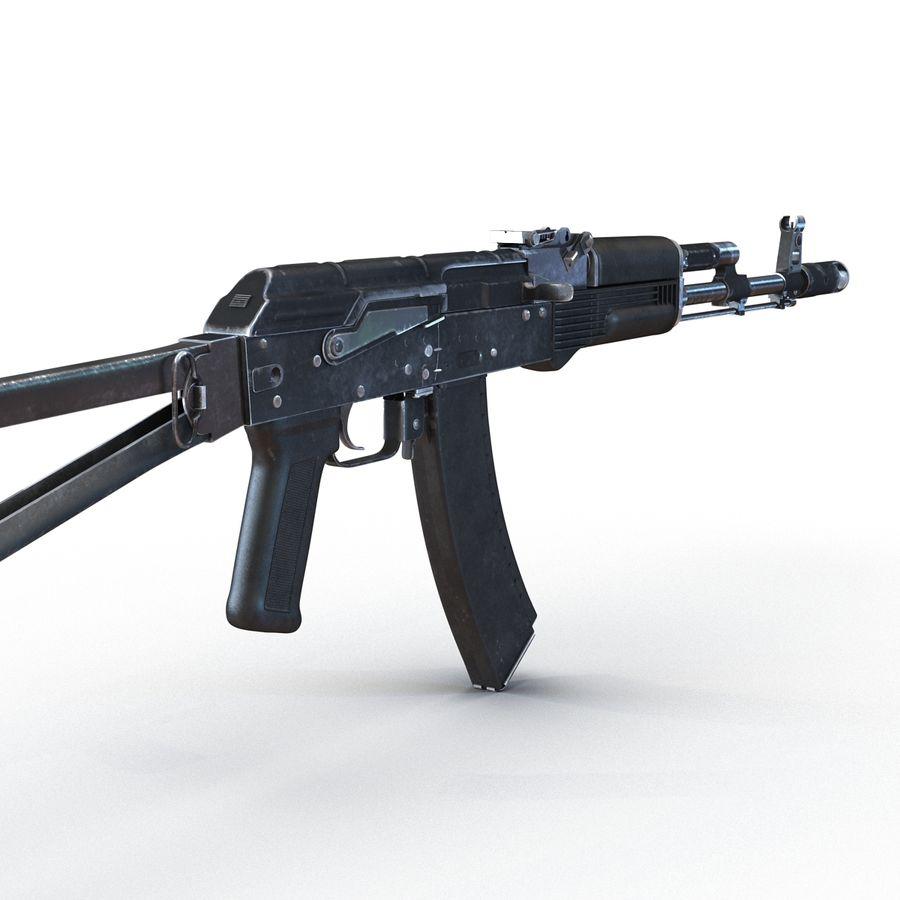 Assault Rifle AKS 74 3D Model royalty-free 3d model - Preview no. 11