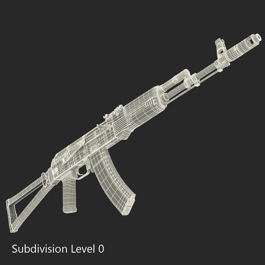 Assault Rifle AKS 74 3D Model royalty-free 3d model - Preview no. 24