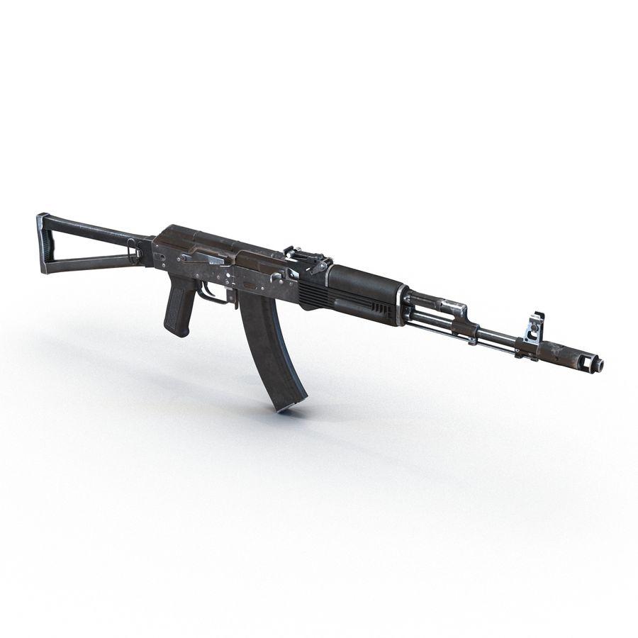 Assault Rifle AKS 74 3D Model royalty-free 3d model - Preview no. 7