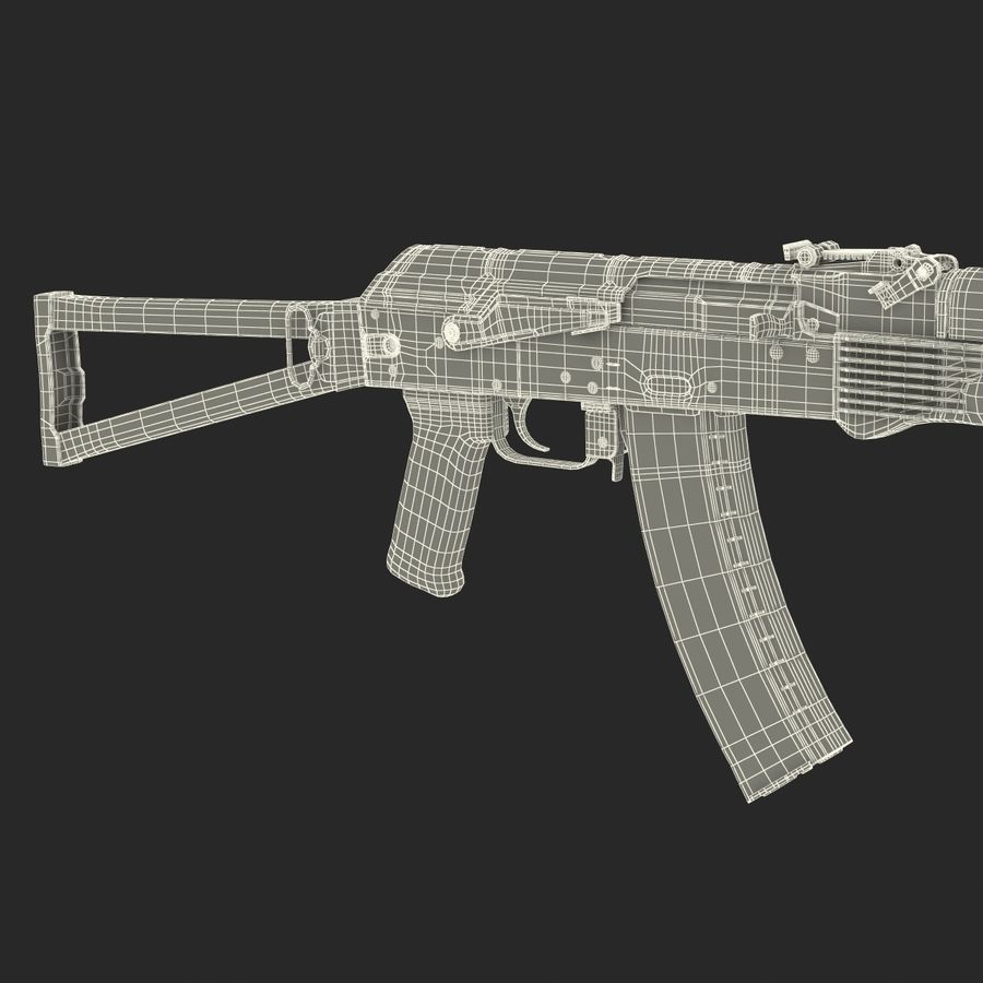 Assault Rifle AKS 74 3D Model royalty-free 3d model - Preview no. 33