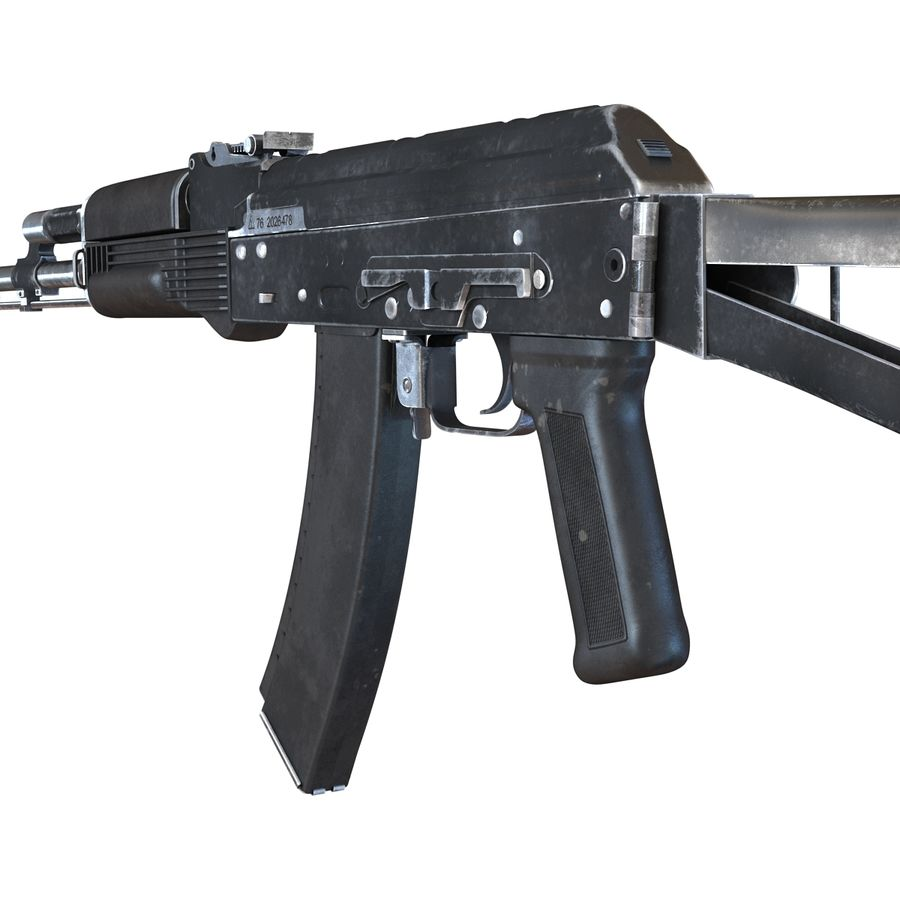 Assault Rifle AKS 74 3D Model royalty-free 3d model - Preview no. 16