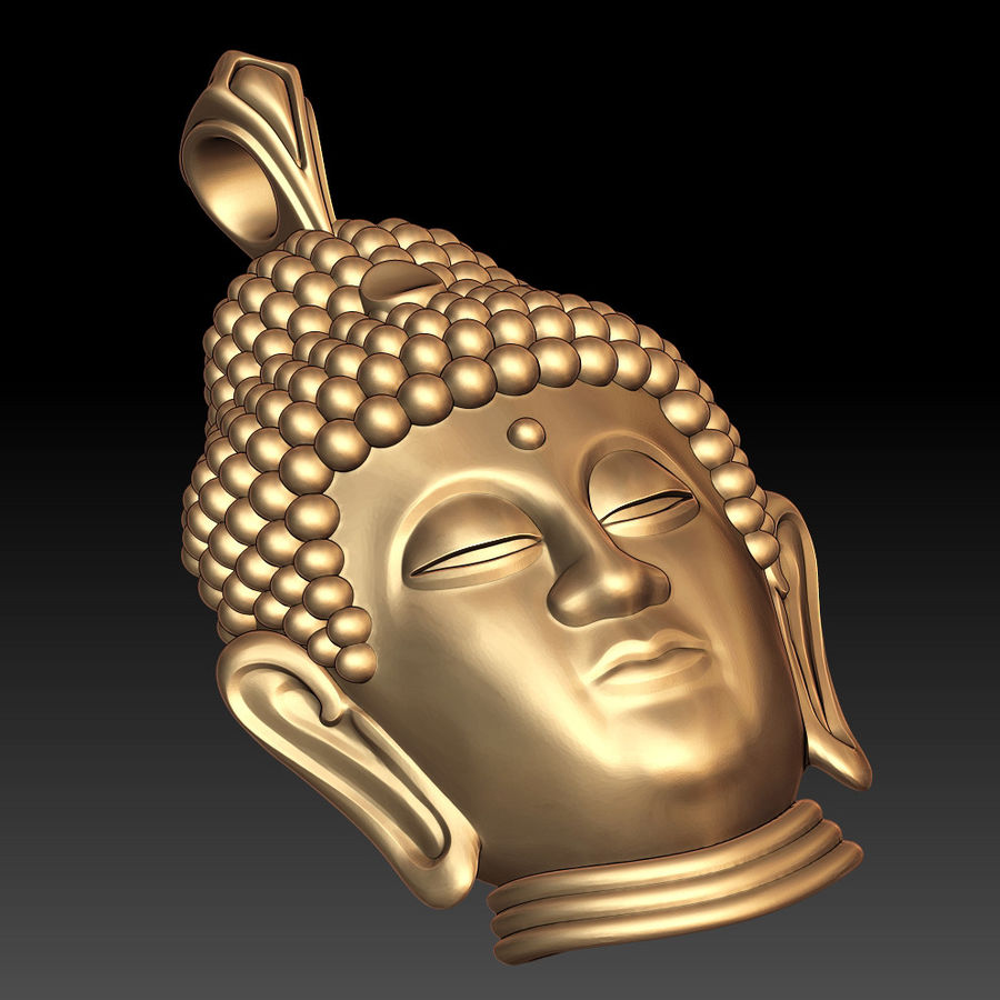 Buddha pendant royalty-free 3d model - Preview no. 4