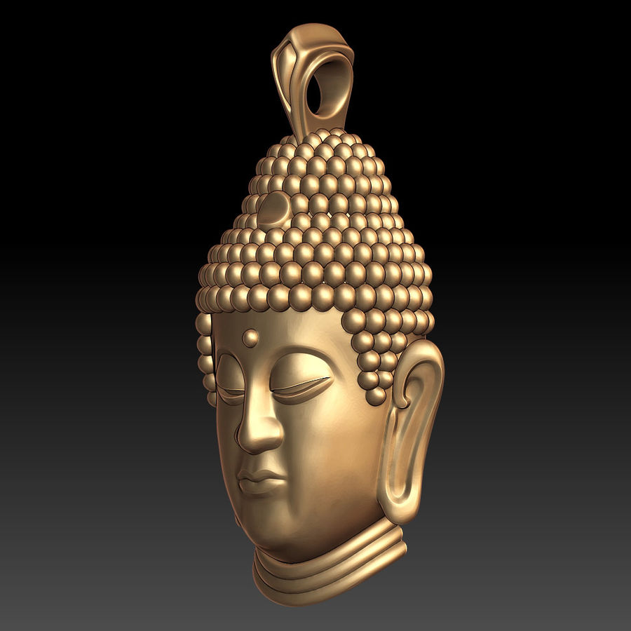 Buddha pendant royalty-free 3d model - Preview no. 2