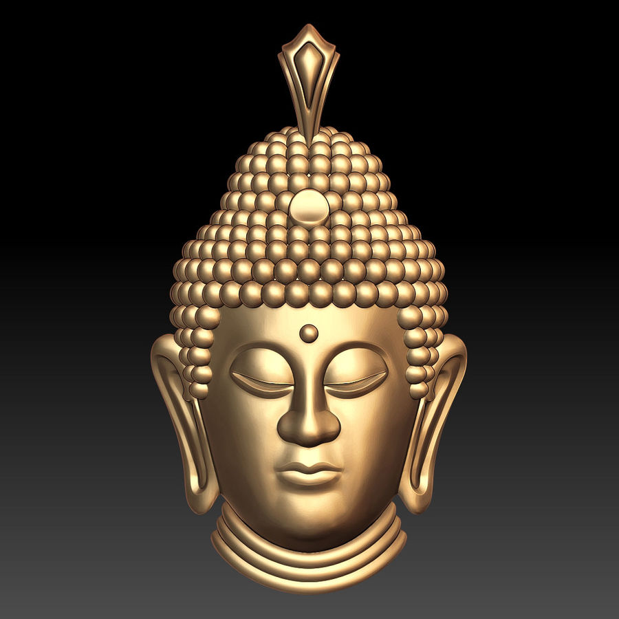 Buddha pendant royalty-free 3d model - Preview no. 1