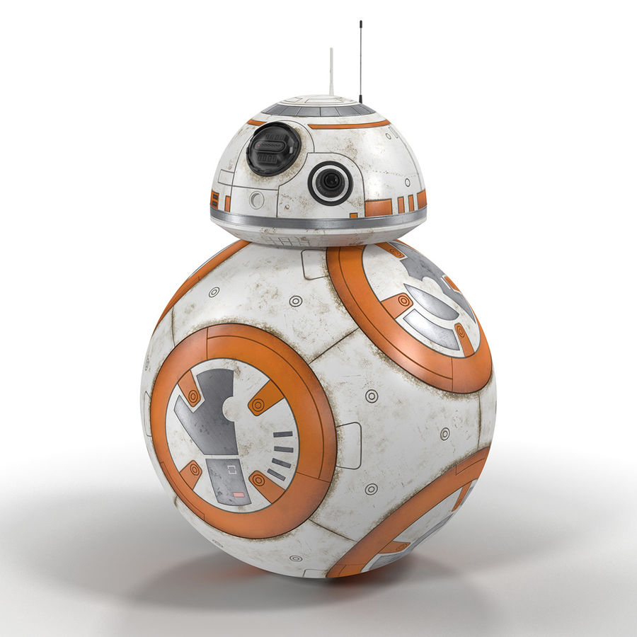 BB-8 Star Wars royalty-free 3d model - Preview no. 2