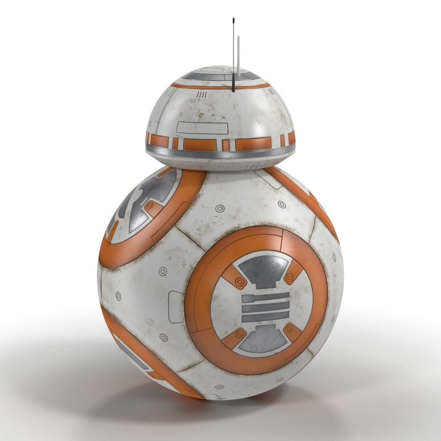 BB-8 Star Wars royalty-free 3d model - Preview no. 5
