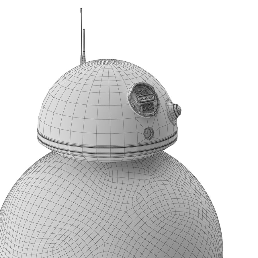 BB-8 Star Wars royalty-free 3d model - Preview no. 7