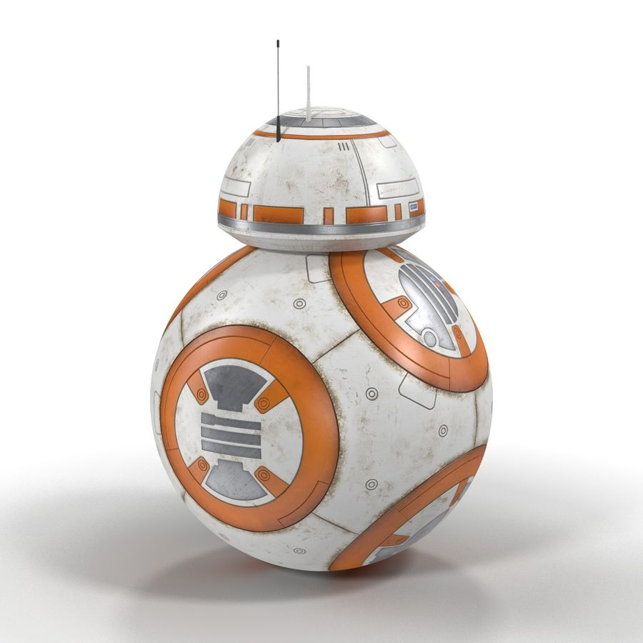 BB-8 Star Wars royalty-free 3d model - Preview no. 6