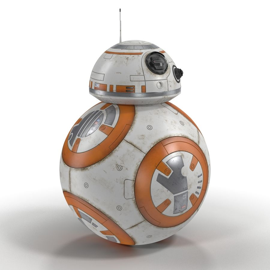 BB-8 Star Wars royalty-free 3d model - Preview no. 4