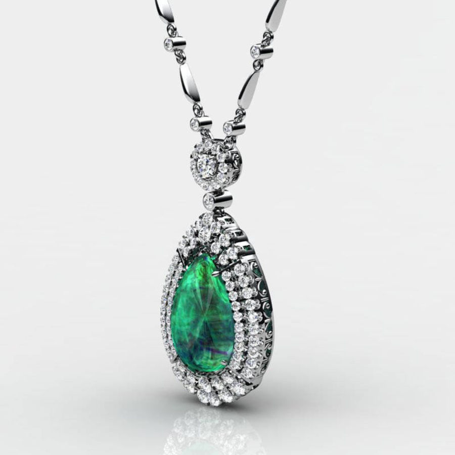 Pear and Diamonds Pendant royalty-free 3d model - Preview no. 1