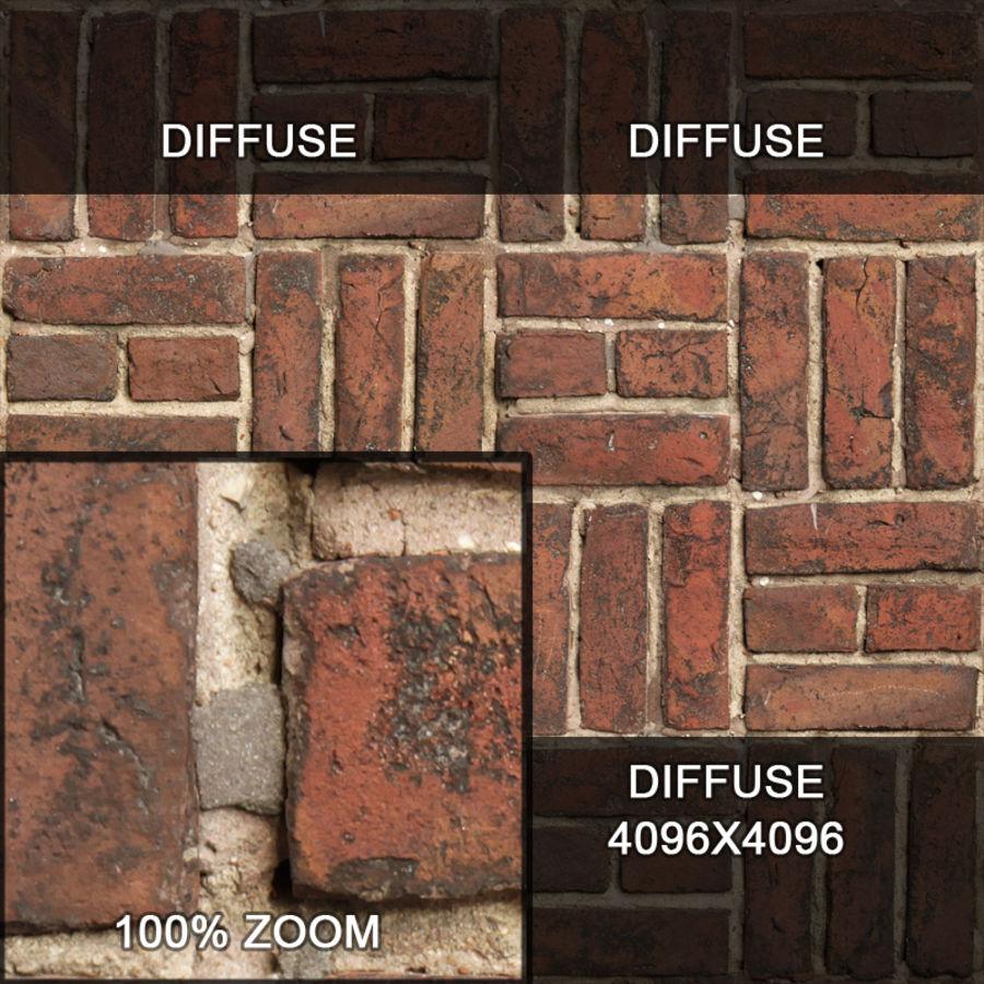Bricks wall #15 royalty-free 3d model - Preview no. 12