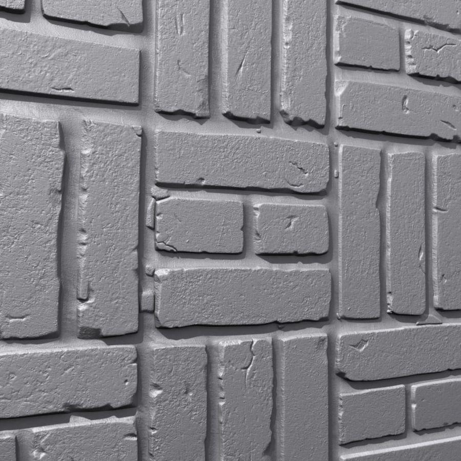 Bricks wall #15 royalty-free 3d model - Preview no. 2