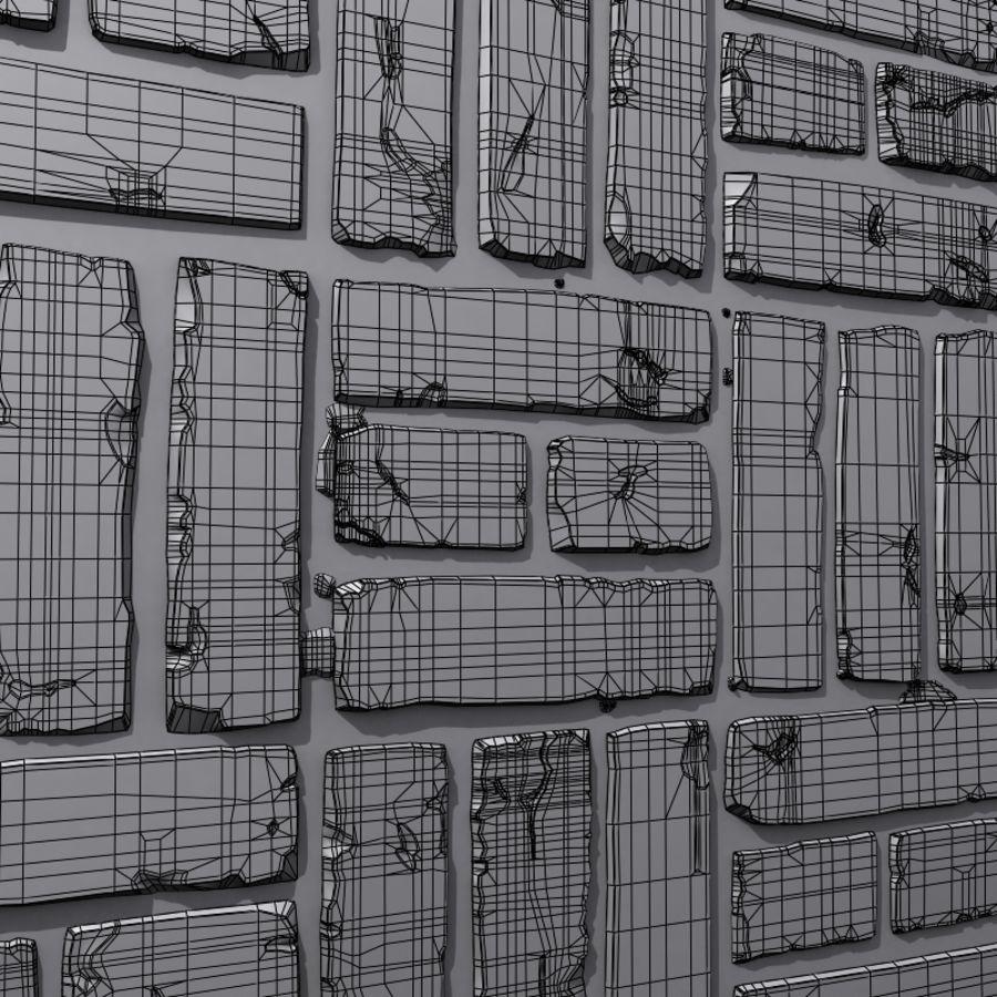 Bricks wall #15 royalty-free 3d model - Preview no. 3