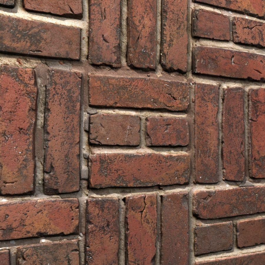 Bricks wall #15 royalty-free 3d model - Preview no. 1