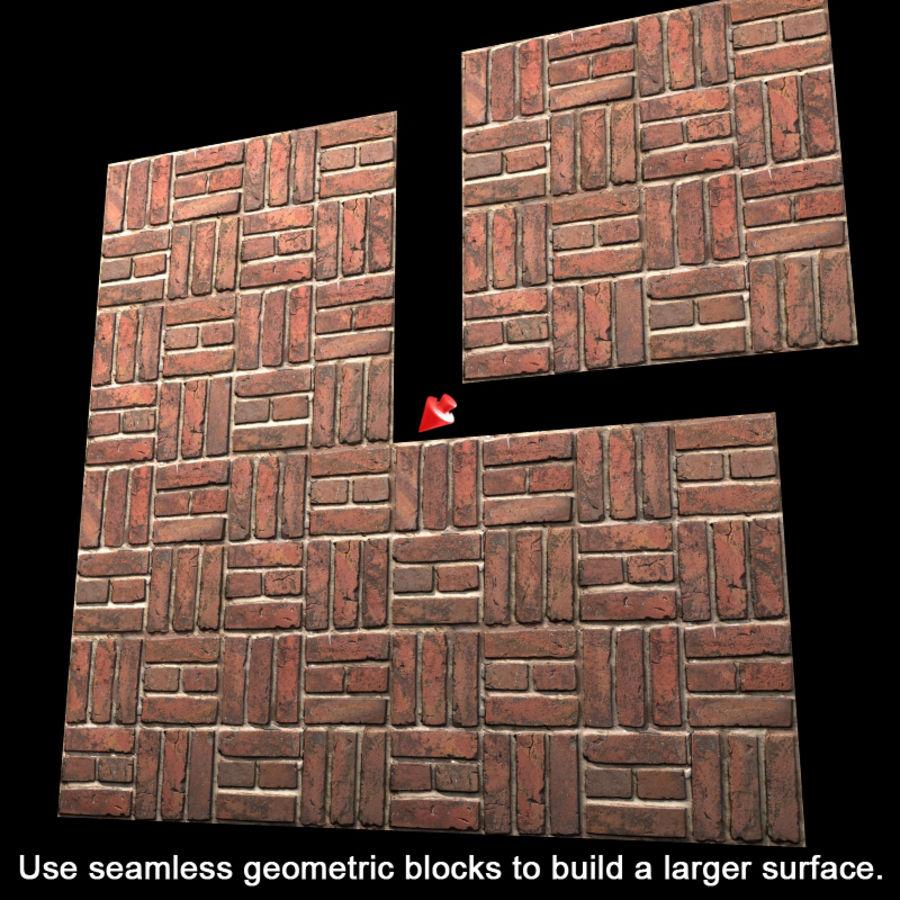 Bricks wall #15 royalty-free 3d model - Preview no. 10