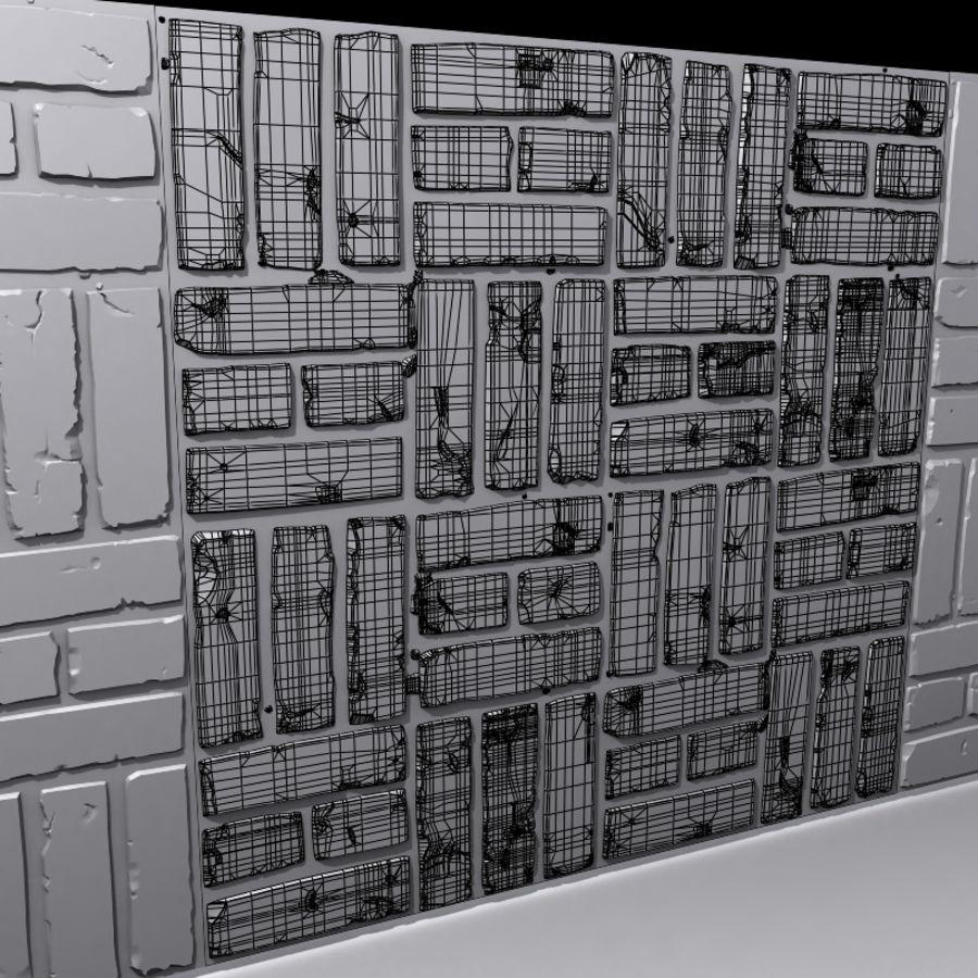 Bricks wall #15 royalty-free 3d model - Preview no. 6